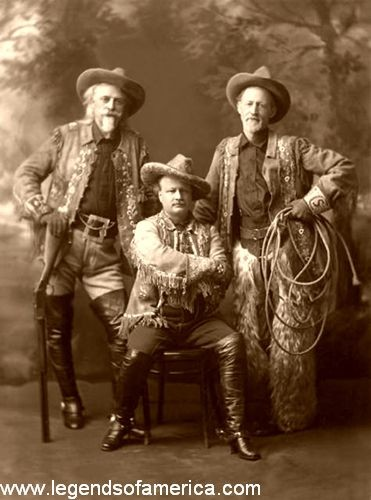 William F Cody (Buffalo Bill),pawnee Bill et Buffalo Jones