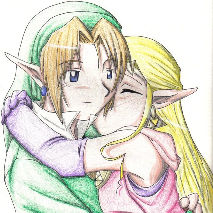 La Legende De Zelda Link Et Zelda Link Dessin Facile